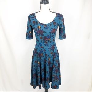 LuLaRue Nicole Fit and Flare Floral Dress